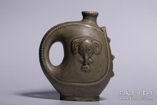 宋代,耀州窑象首壶