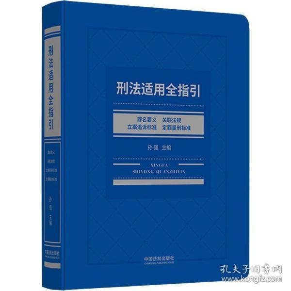刑法适用全指引:罪名要义、关联法规、立案追诉标准、定罪量刑标准