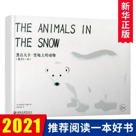 雪地上的动物 黑白大卡 初生婴幼儿童视觉启蒙认知训练 数字学习 动物卡片 0-1-2-3岁宝宝读物 新华书店正版