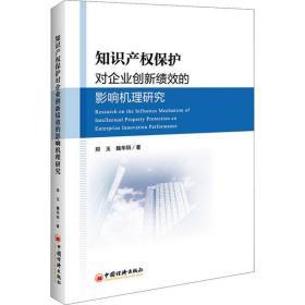 如初见正版图书知识产权保护对企业创新绩效的影响机理研究郑玉9787513651981中国经济出版社2018-09-01法律书籍