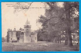 法国1910年【拉布雷德的_孟德斯鸠城堡】实寄明信片