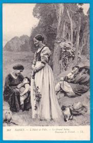 法国1909年【南锡市政厅壁画之一】明信片