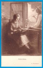 法国1909年【画家德斯普朗克作品_甜蜜的表白】明信片