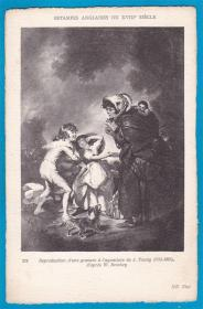 法国1909年【凡尔赛铜版画_英国画家比奇作品】雕版明信片