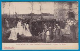 法国1912年【画家贝雷东作品_绿化骷髅地】明信片