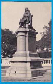 法国1909年【数学及哲学家帕斯卡纪念雕像】明信片