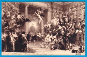 法国1905年【画家贝鲁德作品_鲁本斯的荣耀】明信片