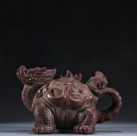 旧藏 友泉款、龙龟形紫砂壶