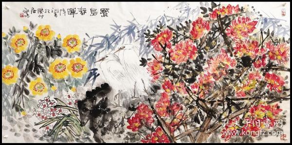 福建省美术家协会常务理事、厦门市美术家协会副主席【白磊】花鸟