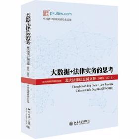 正版大数据+法律实务的思考:北大法律信息网文粹(2018-2019)