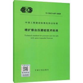 正版喷扩锥台压管桩技术标准 t/cecs 657-2020 计量标准