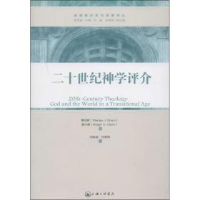 正版二十世纪神学评介:超越性与临在性的平衡