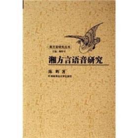 湘方言研究丛书-湘方言语音研究 陈晖 著 9787810816137