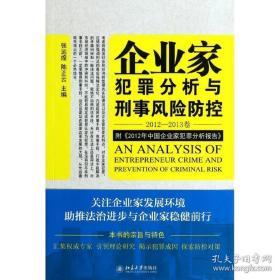 全新图书企业家犯罪透视与刑事风险防控(2012-2013卷)