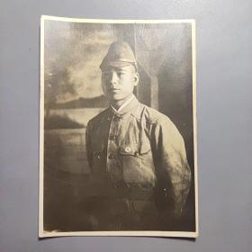 抗战时期侵华老照片—日本兵          尺寸:9.7CM*7CM