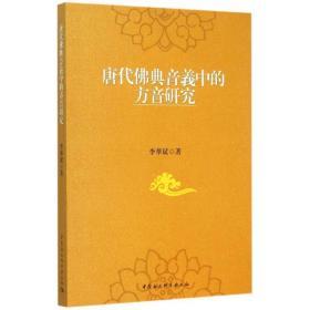 唐代佛典音义中的方音研究