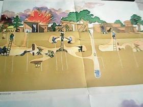 挂图:冀中的地道战(左右)