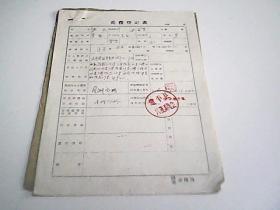 兵役登记表  1960年