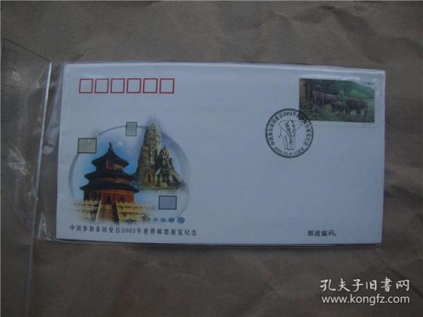 WZ2003—1 中国参加泰国曼谷2003年世界邮票展览纪念封