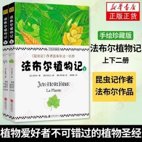 法布尔植物记(上下)(手绘珍藏版) 昆虫记作者法布尔作品 植物爱好者不可错过的植物圣经 中小学生青少年植物科普大全百科知识 正版
