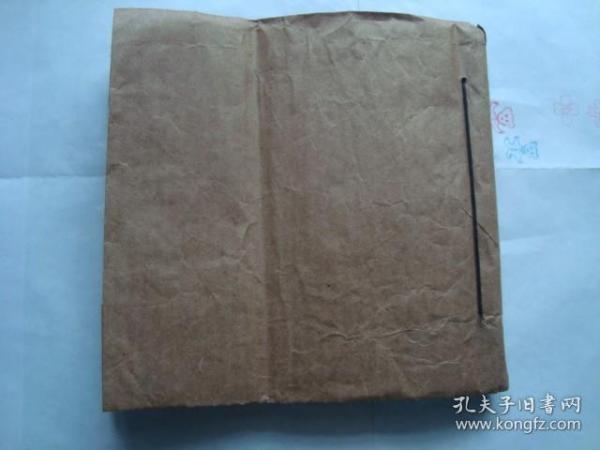 毛笔手抄药方 超大开本厚册,  墨色浓郁、书法飘逸、超大巨厚、难得的药方手抄。