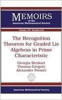 预订The Recognition Theorem for Graded Lie Algebras in Prime Characteristic