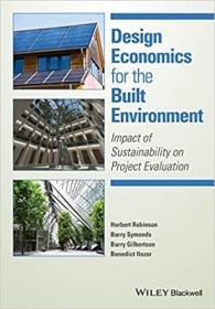 预订Design Economics for the Built Environment: Impact of Sustainability on Project Evaluation