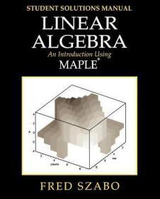 预订Linear Algebra with Maple, Lab Manual