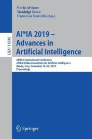 预订Ai*ia 2019 - Advances in Artificial Intelligence: Xviiith International Conference of the Italian Association for Artificial Intelligence, Rende, Ital