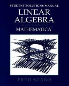 预订Linear Algebra with Mathematica, Student Solutions Manual