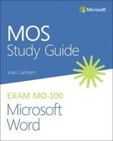 预订Mos Study Guide for Microsoft Word Exam Mo-100