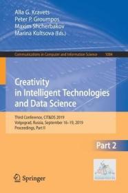 预订Creativity in Intelligent Technologies and Data Science: Third Conference, Cit&ds 2019, Volgograd, Russia, September 16-19, 2019, Proceedings, Part II