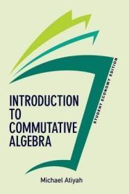 预订Introduction To Commutative Algebra, Student Economy Edition
