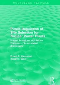 预订Public Regulation of Site Selection for Nuclear Power Plants