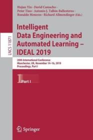 预订Intelligent Data Engineering and Automated Learning - Ideal 2019: 20th International Conference, Manchester, Uk, November 14-16, 2019, Proceedings, Pa