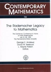 预订The Rademacher Legacy to Mathematics