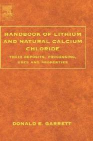 预订 高被引图书Handbook of Lithium and Natural Calcium Chloride