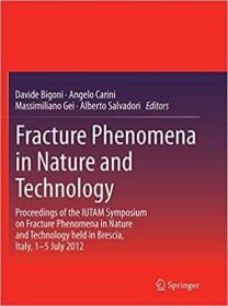 预订Fracture Phenomena in Nature and Technology: Proceedings of the Iutam Symposium on Fracture Phenomena in Nature and Technology Held in Brescia, Italy,