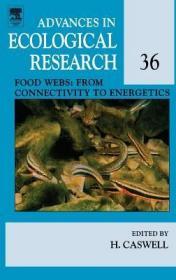 预订Food Webs: From Connectivity to Energetics