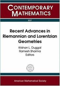 预订Recent Advances in Riemannian and Lorentzian Geometries
