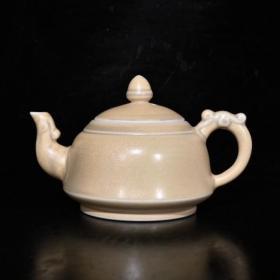 清代乾隆象牙瓷壶(9×15.5cm)
