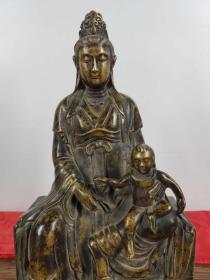 【灵山送子观音】铜佛像。买家自鉴