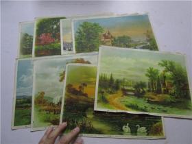 1955年16开画片 四号风景 一,二,三,四,五,六,七,八 1-8幅 合售(上海画片出版社出版发行)