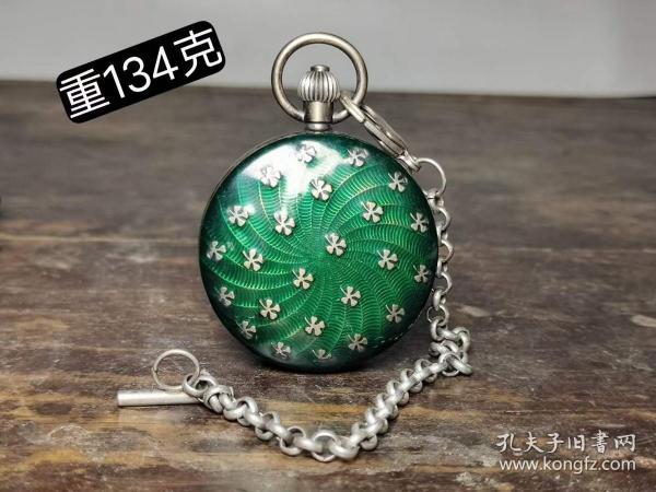 景泰蓝铜怀表,可以正常使用。,买家自鉴