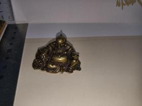 弥勒佛铜钥匙扣(空心)