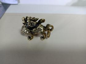 麒麟铜钥匙扣
