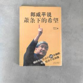 郎咸平说:萧条下的希望