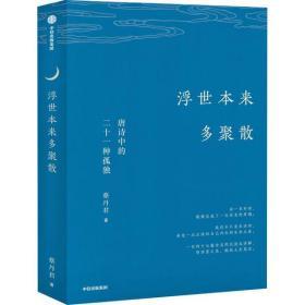 浮世本来多聚散 唐诗中的二十一种孤独蔡丹君9787521718331中信出版社文学
