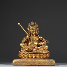 鎏金黄财神造像。