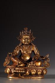 铜鎏金 黄财神 造像